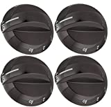 4 Pack Top Burner Control Knob 316220009 Compatible with Frigidaire, Electrolux Range, Fits GLGF389GBD, GLGF389GBE, GLGF389GBF, GLGFM98GPBD, GLGFS75DBK, GLGFS75DCK, GLGFZ376FCE and More