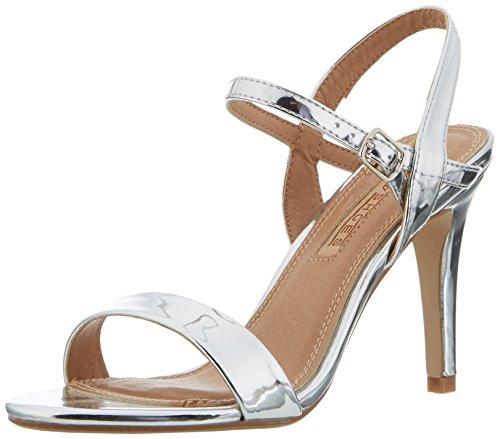 Buffalo Shoes 314258 Metallic Pu HM 333, Sandali con Zeppa Donna, Argento (Silver), 39 EU