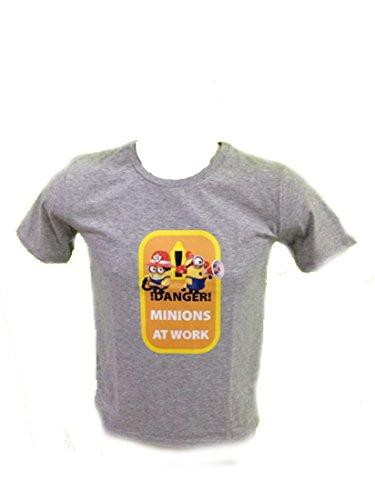 Minions - Camiseta deportiva - para hombre gris XL