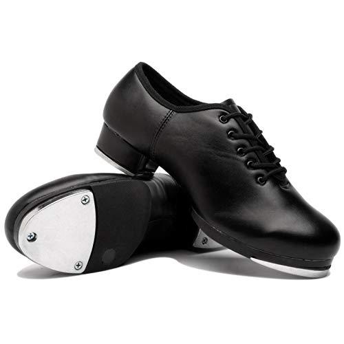 Leiyini Trading Jazz Stepptanz Schuhe, Jazz-Tanzschuhe für Frauen, Leder Jazz Schuh Erwachsene/Unisex Lace Up Frauen Steppschuhe Slip On Tanzschuhe für Frauen Damen Mädchen