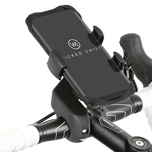 Wicked Chili Pro Mount Bike - Fahrrad/Motorrad Design Halterung für Samsung Galaxy S10+ / 10e / 10/9 / S9+ / S8 / S8+ / A3 / A5 / Note 8 / J5 / A6+ Smartphone (Case kompatibel, Made in Germany)