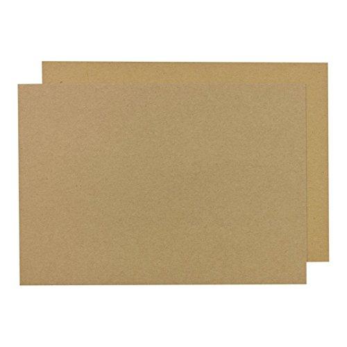 A3 Kraftkarton 410 g/m², starker Bastelkarton 29,7 x 42 cm, festes Kraftpapier zum Basteln - 25 Blatt