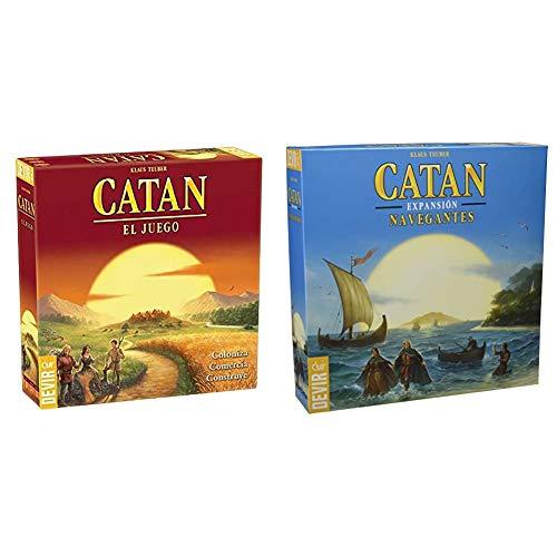 Devir - Catan, Juego de Mesa - Idioma Castellano (BGCATAN) + Catan, expansión Navegantes, Juego de Mesa (BGNAVEGANTES)