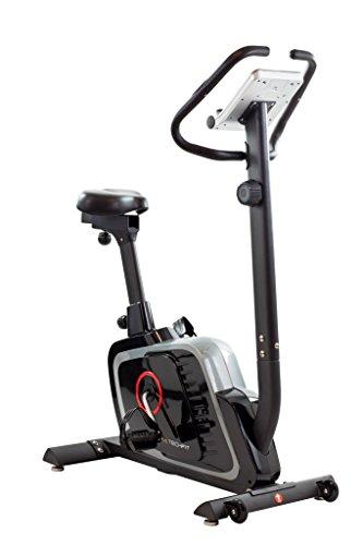 TechFit B470 Bicicletta di Fitness, Cyclette Magnetica per Esercizi, Cyclette Dispositivo di Ripristino con Sella Regolabile, Bici Cardio, Sensori a impulsi e Monitor LCD