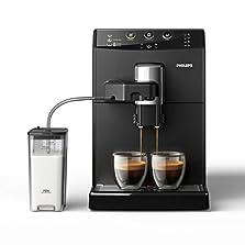 Philips 3000 Serie HD8829/01 Kaffeevollautomat (1850 W, Cappuccino auf Knopfdruck) schwarz©Amazon