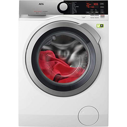 AEG L8FEE945R 8000 Series Freestanding Washing Machine with Oxomix Technology, 9kg Load, 1400 RPM Spin, White