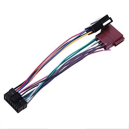 REFURBISHOUSE - Arnés de radio estéreo de coche para conector automático compuesto de 16 pines - Adaptador de toma de juego de radio Sony SKSY16-21 ISO