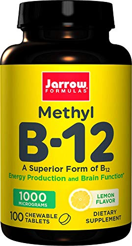 Jarrow Methylcobalamin B12, 1000mcg, 100 Lemon Flavour Vegan Lozenges (1000mcg, 100 Lemon Flavour Vegan Lozenges)