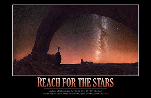 WonderClub Reach for The Stars - 11x17 Funny Demotivational Poster Print