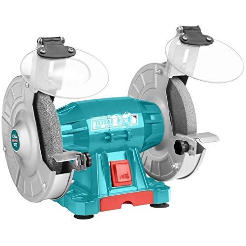Total–amoladora de banco Doble de MP 150W–tamaño 150mm, 4pies de goma