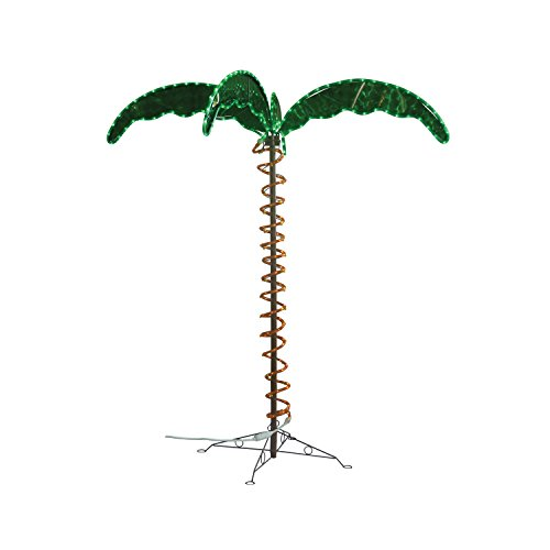 Green LongLife 4.5-Feet Decorative Lighted Palm Tree - Holographic Rope Light for Indoor and Outdoor Use