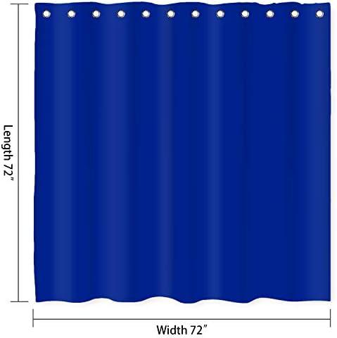 Cobalt blue shower curtain _image0