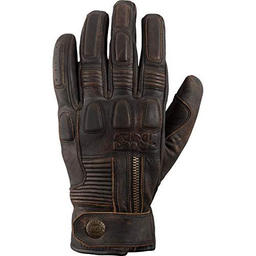 IXS Motorradhandschuhe kurz Motorrad Handschuh Kelvin Handschuh antik braun M, Herren, Lifestyle, Ganzjährig, Leder
