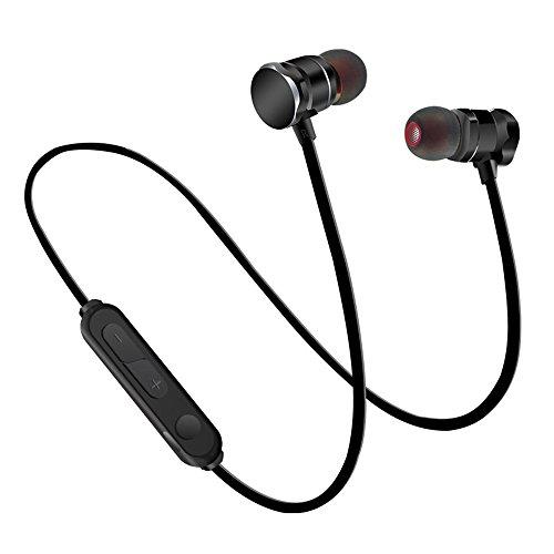 CIC Fone de Ouvido Bluetooth Magnético Esportivo Estéreo Sem Fio Intra-Auricular para Corrida Preto com Microfone de Alta Definição com Longa Duração Reduz Ruídos, Preto