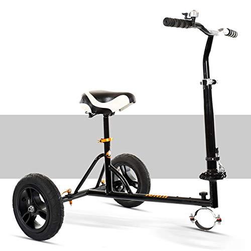 Wgwioo Kit de conversión de Kart, para Hoverboard, Asiento de hoverkart Ajustable Plegable, fácil de Llevar para Scooter eléctrico Inteligente con autoequilibrio,Negro
