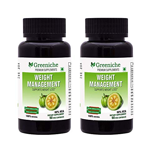 Greeniche Weight Management Garcinia Cambogia with Green Coffee Bean Extract - 90 Capsules (Buy 1 Get 1 Free)