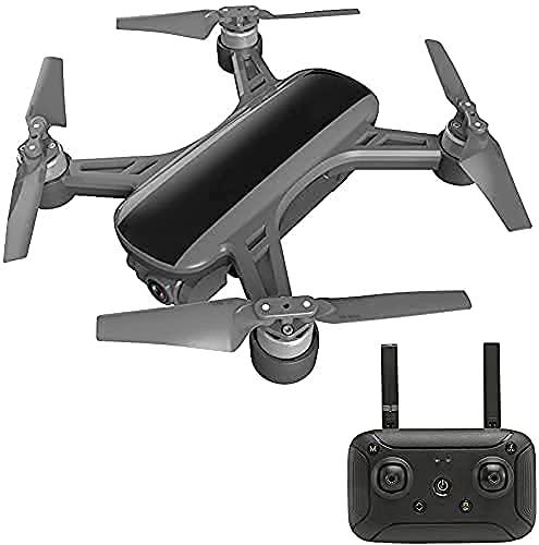 Drone con fotocamera Drone GPS con fotocamera 4K HD, drone pieghevole per principianti, quadricottero RC con ritorno automatico a casa, seguimi, volo in cerchio, adatto a bambini, adulti e principian