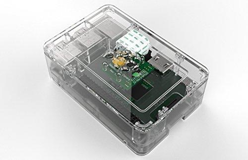 Gehäuse (OneNineDesign) für Raspberry Pi 3 (nicht für Pi 3 Model B+ geeignet!), Plexiglas klar transparent durchsichtig, belüftet