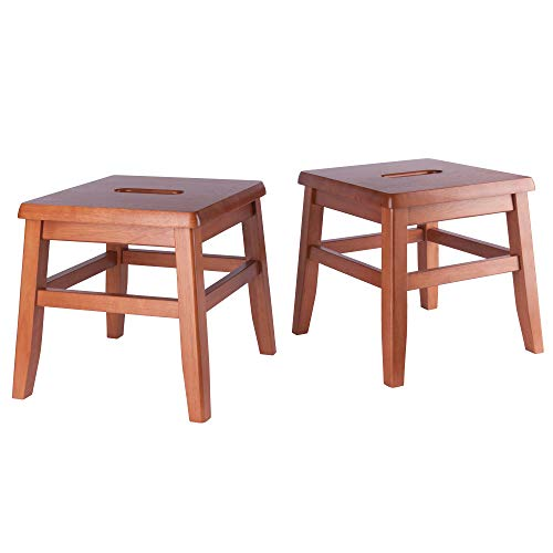 Kaya 2-PC Set Conductor Stool Teak Finish