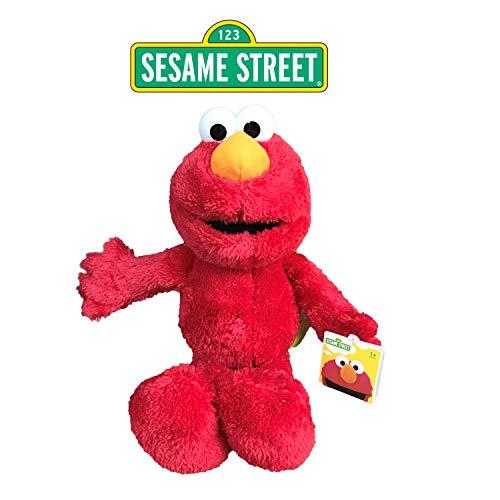 SESAMESTREET Sesame Street - Barrio Sesamo Peluche Elmo (Rojo) 28cm Sentado y 40cm de pie - Calidad Super Soft
