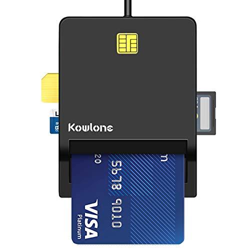 USB Chipkartenleser-DOD Militär CAC Kartenleser, Elektronische Erklärung der ansässigen Basisregistrierungskarte mit öffentlich zugänglichem Adapter/ID-Karte/SIM-Karte/IC-Bank-Chipkarte