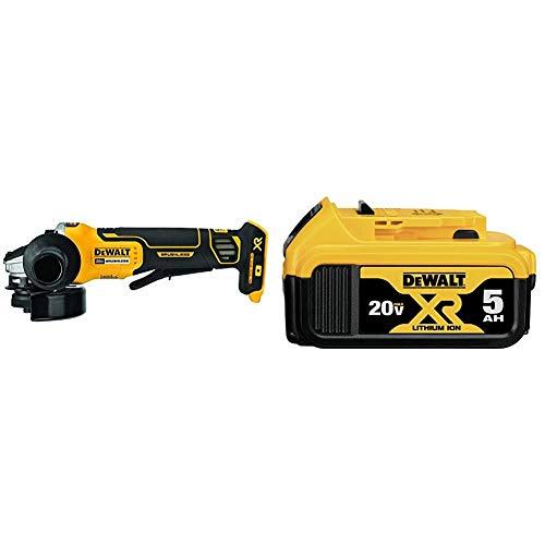 DEWALT DCG413B 20V MAX Brushless Cut Off Tool/Grinder (Tool Only) & 20V MAX XR Battery, Lithium Ion, 5.0Ah (DCB205)