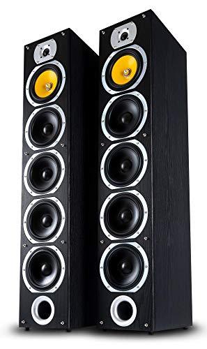 Bennett & Ross Exosphere hi-fi paire d'enceintes colonne noires 2x 200W RMS