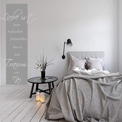 Wandschnörkel ® Wandtattoo ~HM~AA182~Liebe ist. Wandbanner~ Wohnzimmer Flur Schlafzimmer Wand Aufkleber Sprüche Zitate Wanddekoration Farbwahl/Größenwahl