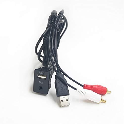 Accesorios para Automóviles BIURLINK 15 0CM / 100CM DIY Extender La Extensión del Automóvil del Adaptador RCA USB Adaptador USB/AUX Panel para Mitsubishi Nissan (Color : 100CM)