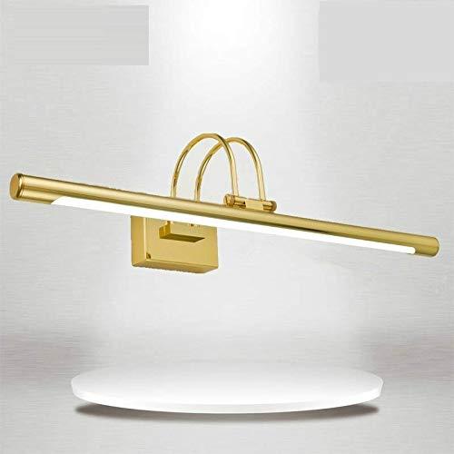 LED nachtlicht LED spiegel koplamp waterdicht kunst draaien ijzer acryl bad Aseo afdekking wandlamp AC 110-240V kleurmissie: warmwit Lengte: 63cm 12W (goud) folie