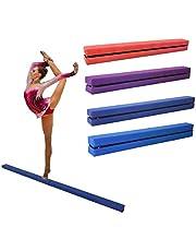 Dripex Barra de Equilibrio Gimnástica, Equilibrio Beam Plegable para niños, Gamuza Artificial 210 cm, Balance Beam de Plegable, Entrenamiento práctica en Casa o en el Aire Libre.