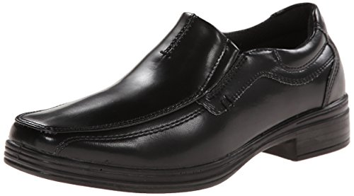 Deer Stags boys Wise Twin Gore Slip-on loafers shoes  Black  3.5 Big Kid US