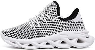 SR trade-YUNTU Shoes Men's Sports Shoes Men's Sports Shoes Fashion Breathable Casual Shoes (Color : G82 Black, Shoe Size : 11)