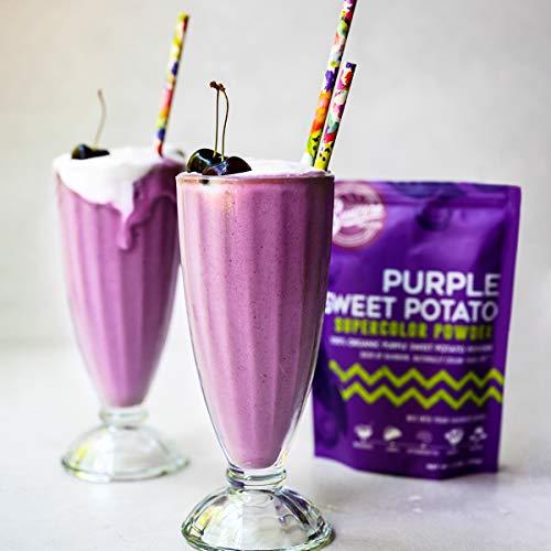 Suncore Foods – Premium Purple Sweet Potato Supercolor Powder, 5oz each (1 Pack) – Natural Purple Sweet Potato Food Coloring Powder, Plant Based, Vegan, Gluten Free, Non-GMO, Baking, Smoothies, Latte