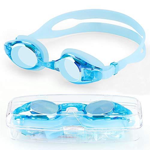 ORLEGOL Kinder Schwimmbrille, Schwimmbrillen für Kinder, Anti Nebel UV-Schutz kein Leck Schwimmbrille, Swimming Goggles Mit 2X Ohrstöpsel, 1x Nasenclips Aufbewahrungsbox Geschenk für Mädchen Jungen