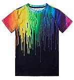 TUONROAD Ragazzo T Shirt 3D Colorata Pittura Girocollo Maglietta da Bambino 10-12 Anni...