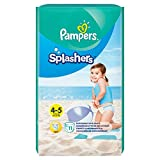 foto Pampers Splashers - Pañales desechables (talla 4-5, 11 unidades)