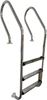 Swimming Pool Handrails, Easy to Install Handrails, 304 Stainless Steel Swimming Pool Ladder with Non-slip Footsteps (with...