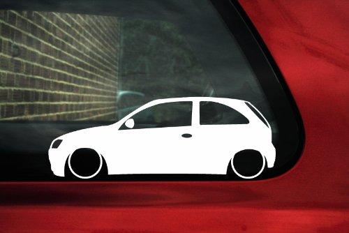 Abgesenkter Opel Corsa C (3 Türer) outline, Motiv