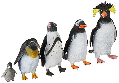 Wild Republic Penguin Polybag  Educational Toys  Kids Gifts  Arctic  Zoo Animals  Penguin Gifts  5Piece
