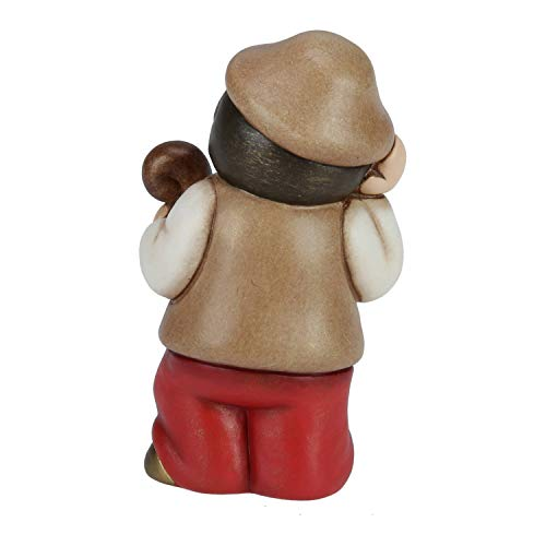 THUN® - Pastore con Bastone - Versione Rossa - Statuine Presepe Classico - Ceramica - I Classici