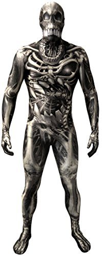 Morphsuits Men's Monster Skull and Bones Costume Skeleton, Large