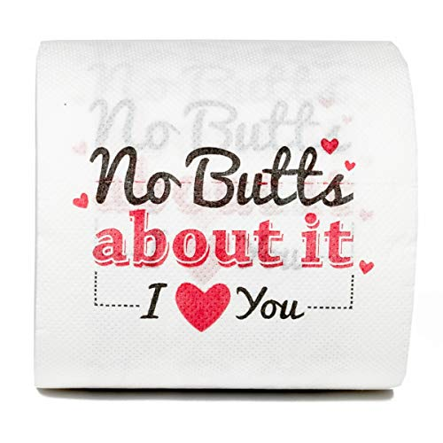 Valentine's Day Toilet Paper Gag Gift – No Btts About it, I Love You