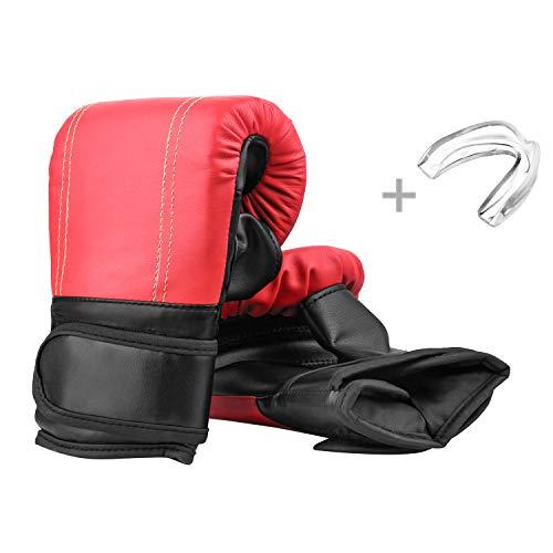 JWTEEE Boxhandschuhe, Kickboxhandschuhe mit Klettschluss Box-Handschuhe für über 13 Jahre alt Training Gloves Jungens Mädchen Einstiegslevel- ideal für Kickboxen Boxen Muay Thai MMA Kampfsport UVM