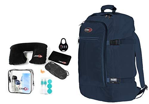 Cabin GO Zainetto cod. MAX 5540 bagaglio a mano/cabina da viaggio, 55 x 40 x 20 cm, 44 litri approvato volo IATA/EasyJet/Ryanair (Blu/Blu)