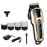 XMWW Turbo barber hair clipper profesional trimmer hair men barba coche cortador de pelo eléctrico máquina de corte de cabello ajustable, 4pcs conjunto de peine