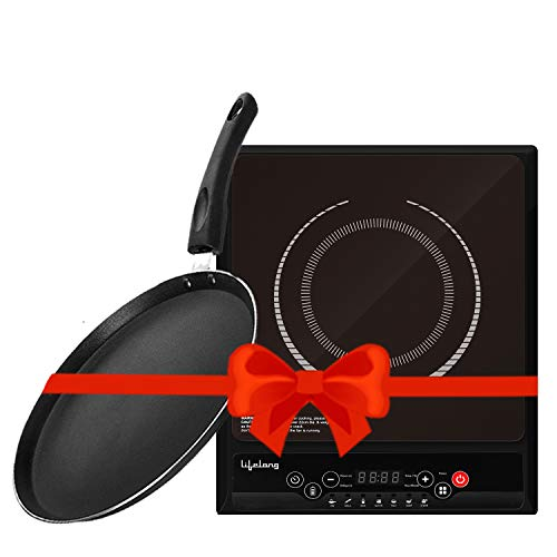 Lifelong 2000 W Induction Cooktop with 250 mm Non-Stick Dosa Tawa Induction Bottom Combo