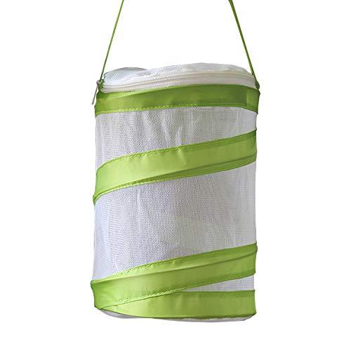 Fliyeong Schmetterlingskäfig Insektenzuchtnetzkäfig, tragbar faltbar geeignet für Schmetterlinge, Spinnen, Würmer, Käfer, Reptilien (grün)