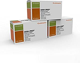 Smith & Nephew Skin PREP Protective Wipes (Box of 50) (Pack of 3 Boxes)