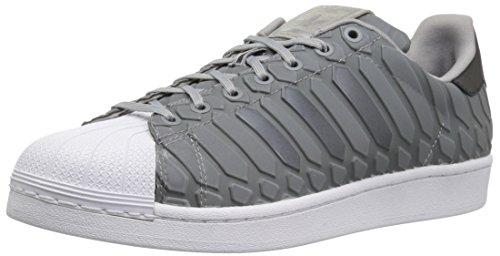 adidas Originals Herren Superstar Shoe, Light Onix/Lieferant Farbe/Weiß, 44 EU